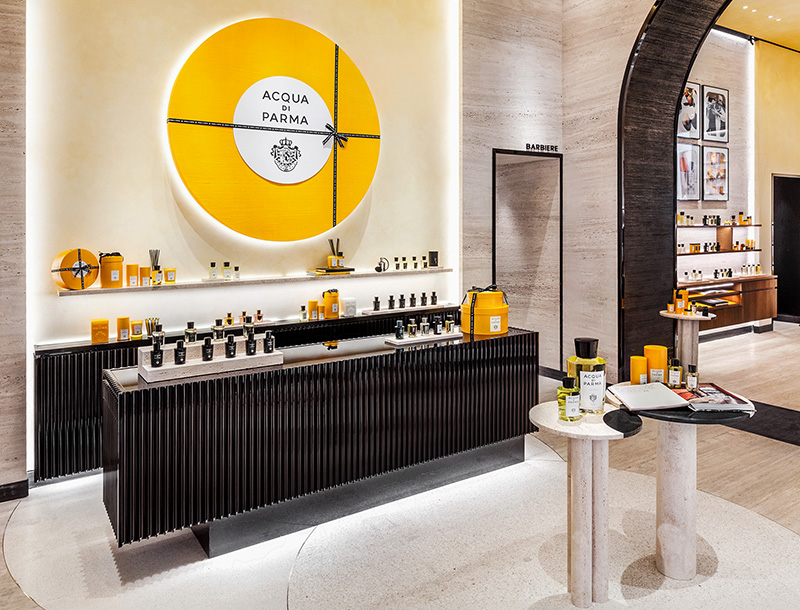 Metis Lighting Acqua di Parma Boutique Milan Retail lightingdesign THUMB