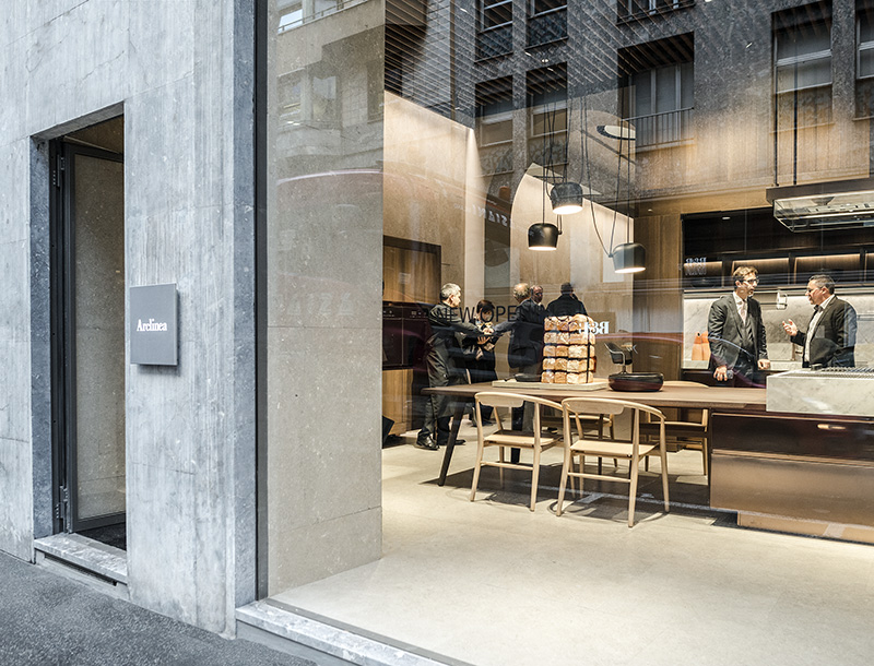 Metis Lighting Arclinea Flagship store via durini Milan Retail lightingdesign THUMB