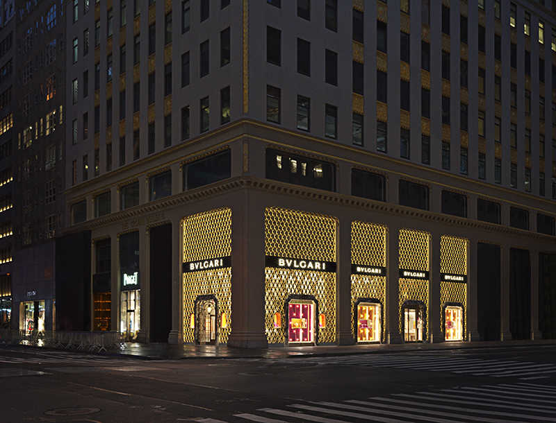 Metis Lighting Façade Lighting Bulgari Boutique New York Retail lighting design THUMB 2