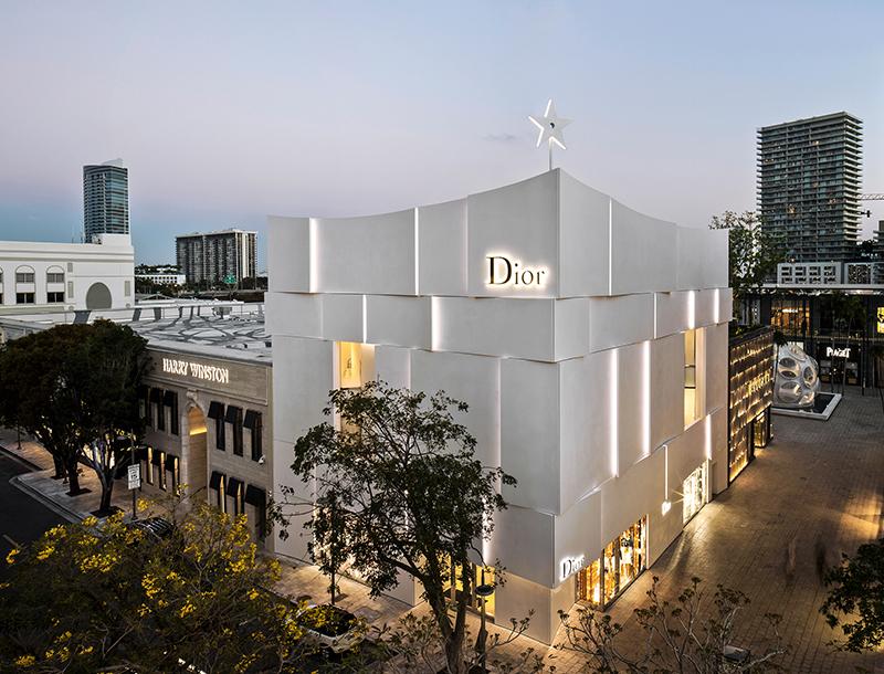 Metis Lighting Façade lighting Dior Flagship Store Miami Retail lighting design THUMB