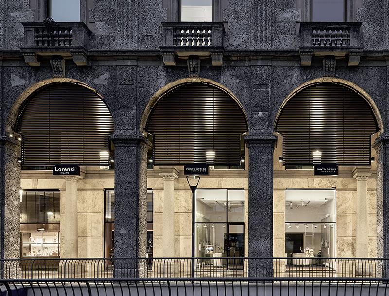 Metis Lighting Galleria Bolchini Milan Outdoor Lightingdesign THUMB