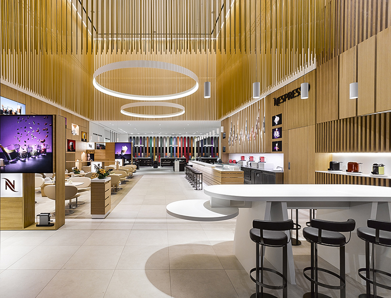 Metis Lighting Nespresso Boutique e Bar Flagship Store Toronto Retail Lightingdesign THUMB