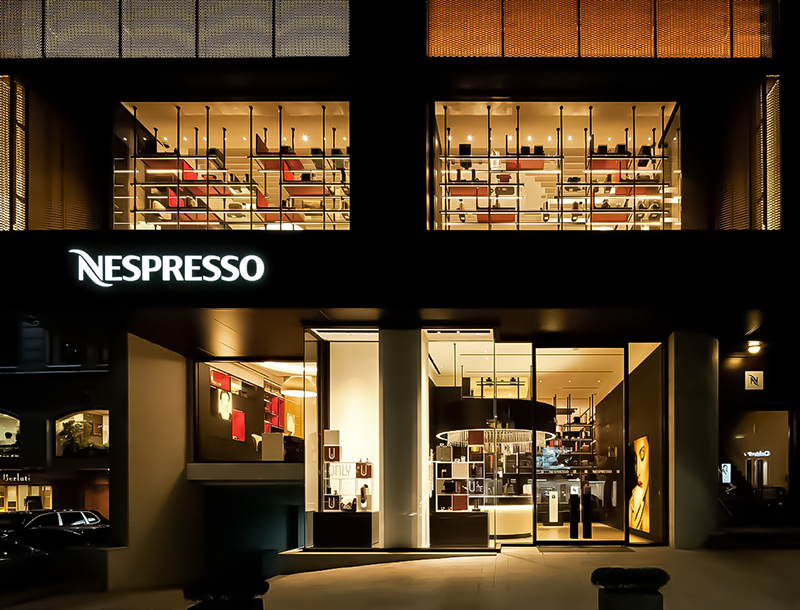 Nespresso Boutique Sunjin Seoul Outdoor Lightingdesign THUMB 1